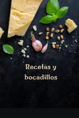 Recetas y bocadillos: Libro de recetas en blanco para escribir en sus propias recetas Libro de recetas de alimentos Diario de diseño y organizador ... y notas especiales y favoritas personalizadas