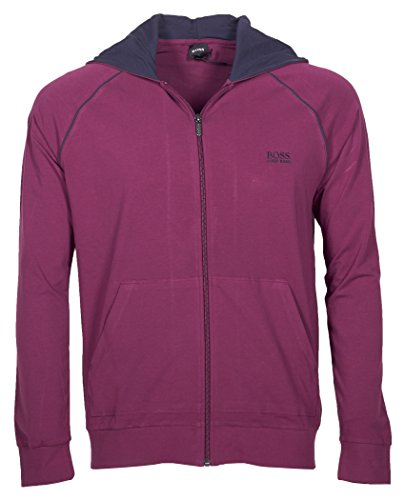 BOSS Hugo Boss Herren Kapuzenjacke Mix&Match Jacket H 10143871 02 (L, Violett (Dark Purple 506))