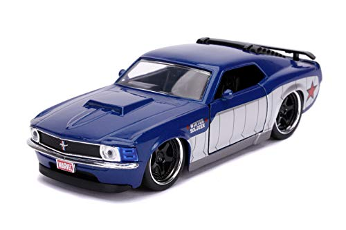 Jada Toys Hollywood Rides Marvel Avengers Winter Solider Inspired by 1970 Ford Mustang Boss 1:32 Scale die-cast Toy Vehicle