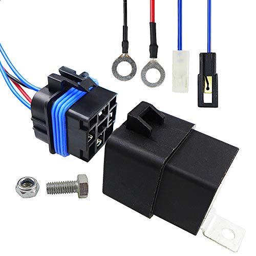 HD Switch Starter Relay Kit, Fit for John Deere, for Kawasaki Onan 130 160 165 170 175 180 185 316 318 320 420 F510 F525 F910 F930 GX70 GX75 GX95 SX75 SX95 SRX75 SRX95,Replace AM107421,AM106304 -  TIKSCIENCE