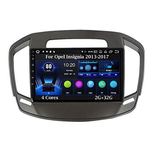 Android 10 Car Stereo 9 Pulgadas Pantalla Táctil Navegación GPS para Opel Insignia 2013-2017 4 Cores 2G+32G con Pantalla Coche Conecta Y Reproduce Bluetooth Multimedia FM/Am/RDS Video SWC