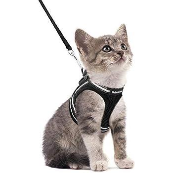 Pet Leash Harness Legendog Cat Harness Vest Adjustable Heavy Duty Cotton Cat Harness with Leash for Walking