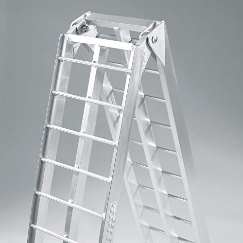 Rampe de chargement Pliable Aluminium Pieds de support Moto VTT Quad Rampe d'accès 226cm 680kg