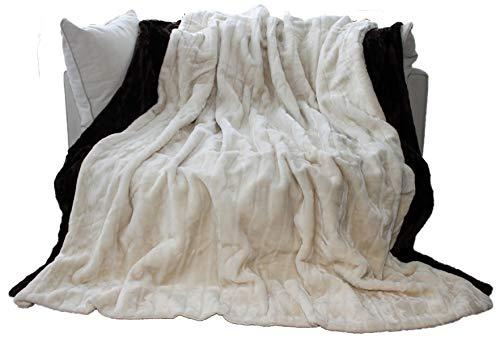 Brandsseller Natur-Fell-Shop - Manta de piel sintética, color blanco