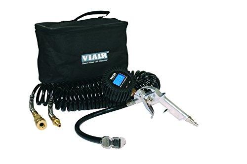 VIAIR 00044 Digital Inflation Kit with 2.5' Digital Tire Gun, 30' Hose and Carry Bag