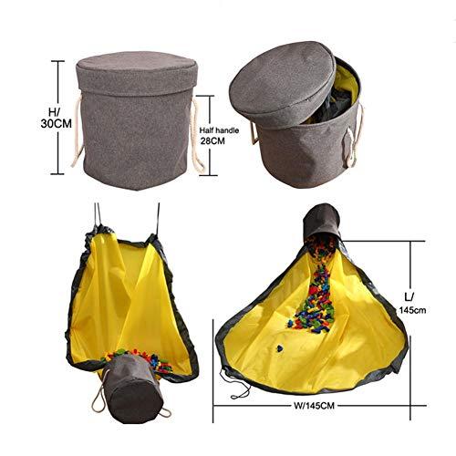 learnarmy Kinder Aufräumsack, Spielzeug Aufbewahrung Spielmatte Spieldecke Speicher Tasche Kinderspielzeug-Aufbewahrungsbeutel - 12