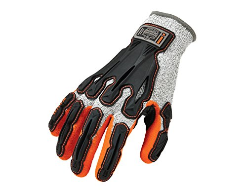 Nitrile Dipped Work Gloves, Cut Resistant, Cut Level A3, Back Hand Impact Protection, Ergodyne ProFlex 922CR, Large