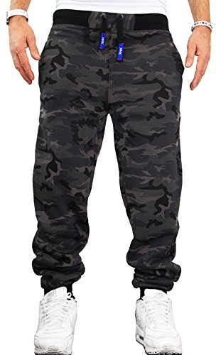 RMK Herren Jogginghose Sporthose Trainingshose Army H.02H.02 neu (Camouflage Dunkel) 3XL