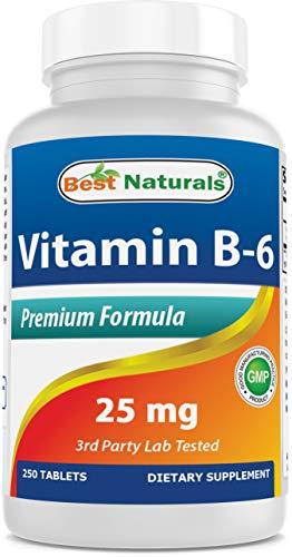 Best Naturals Vitamin B-6 25 Mg Tablets, 250 Count