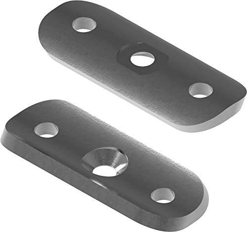 Fenau | Halteplatte | 64x24x4 mm | für Rundrohr Ø 42,4 mm | Stahl S235JR, roh | Handlaufträger Schmiedeeisen für Handlauf/Balkongeländer oder Treppengeländer