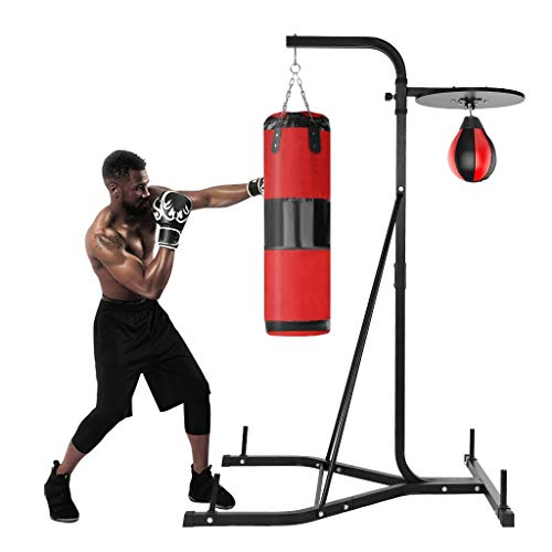Lefthigh Boxing Rack with Sandbag, Heavy-Duty Muscle Strength Speed Ball Punching Bag Stand, for Men Indoor Fitness, 153.5x60x6cm