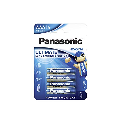 Oferta de Panasonic EVOLTA Pila alcalina AAA Micro LR03 1.5 V, Energía de duración larga, Paquete de 4 unidades