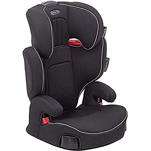 Graco Assure Kindersitz 15-36 kg, Autositz ab 4 bis 12 Jahren, Gruppe 2/3, mitwachsend, weiche Polsterung, Autokindersitz mit intuitiver Gurtführung, Seitenaufprallschutz, Getränkehalter, schwarz