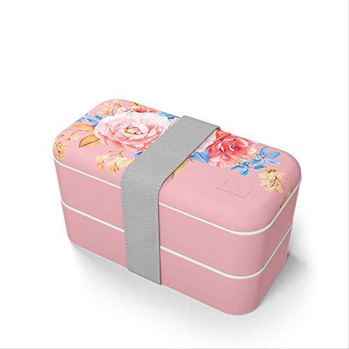 Boîte à lunch portable étanche Boîte de rangement pour bento étanche étanche Boîte à lunch, Then-Box Boîte de repas portable fitness réducteur de graisse Impression de mode Boîte décontractée 1L C Bo