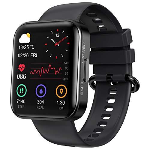 KOSPET Smartwatch 1.71 Zoll Touchscreen Fitness Armbanduhr mit Pulsuhr,Fitness Tracker mit Echter Blutsauerstofftest,Schlafmonitor, IP68 Wasserdicht Sportuhr Smart Watch,Stoppuhr für Damen Herren