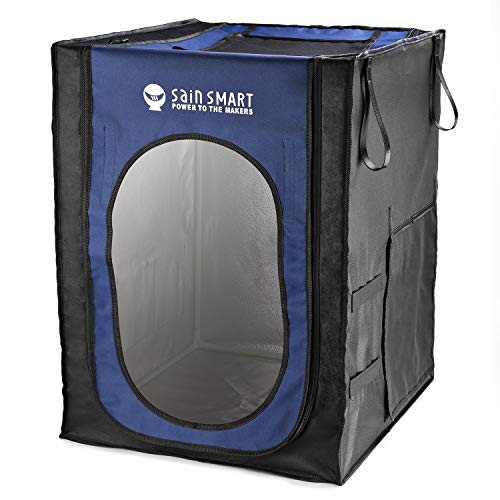 SainSmart Large 3D Printer Enclosure, Dust-Proof Cover Tent, Constant Temperature, Noise Reduction, 53cm x 61.5cm x 73.5cm, with Multiple Tool Pockets and Slots, Spare Filament Holders