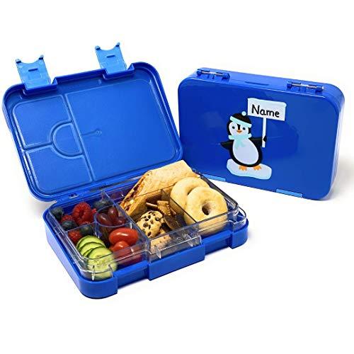 Kitcherieur Lunchbox für Kinder - Brotdose, Snackbox, Bento Box mit variablen Fächern - Für Jungen & Mädchen - Ideal für Kindergarten, Schule oder unterwegs/auf Reisen - 21,3 x 15 x 4,5 cm - Blau