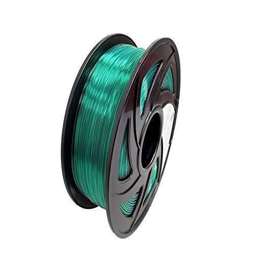 LEE FUNG PETG 3D Printing Filament, Dimensional Accuracy +/- 0.05mm, 2.2 LBS (1KG),1.75 mm 3D Filament for Most 3D Printer & 3D Printing Pen (Transparent Green)