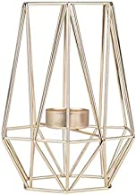 NFSWMHLE Geometric Candle Holder, Metal Tea Light Candlestick Candle Holder Wedding Party Decorations Ornaments (Color : B)