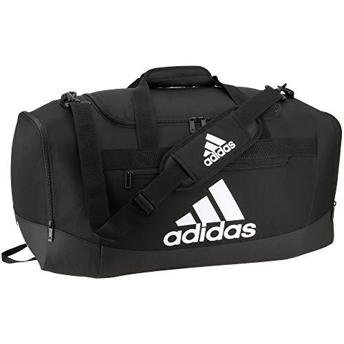 adidas Defender 4 - Bolsa de Deporte (tamaño Mediano), Color Negro/Blanco, tamaño Talla única