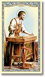 St. Joseph The Worker Holy Card - Prayer to St Joseph The Worker on The Back (10 Pack)