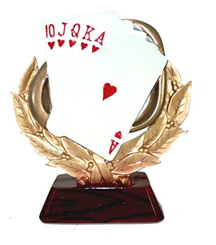 Moll Pokale Skat, Kartenspieler, Doppelkopf, Pokal, Auszeichnung 65095 mit oder ohne Gravur, Figuren, Skulpturen