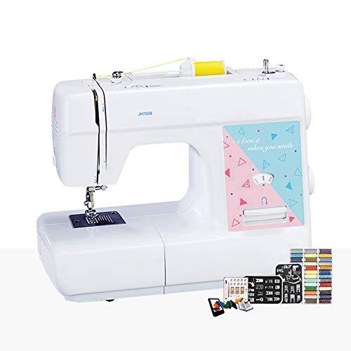 SEGIBUY draagbare naaimachine, elektrische basisnaaimachine, hoge snelheid, met ingebouwd ledlicht voor het naaien van beginners in het huishouden