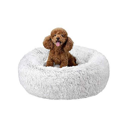 QIANGQIANG - Cama ortopédica para perros, cómoda y suave, cálida, impermeable, para perros grandes, extragrandes, 120 cm, color blanco
