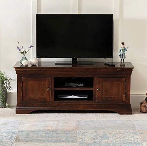 """French Hardwood Mahogany Stained TV Unit - to fit TV's up to 65"""""""