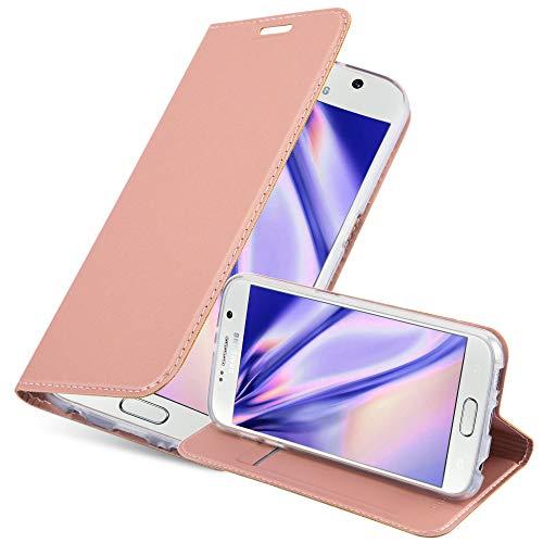 Cadorabo Funda Libro para Samsung Galaxy S6 en Classy Oro Rosa – Cubierta Proteccíon con Cierre Magnético, Tarjetero y Función de Suporte – Etui Case Cover Carcasa