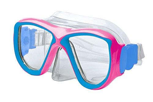 JetPilot Body Glove Mischief Youth Dive Mask, Pink/Aqua, One Size