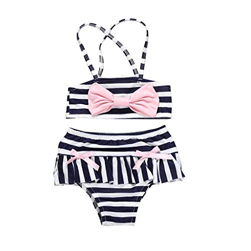 Sunmmer Peuter Meisjes Badpakken, HROIJSL Babygirl 4 juli Star Wrap Badpak Bikini Zwemkleding Badpak Strand Badpakken Zwemkleding