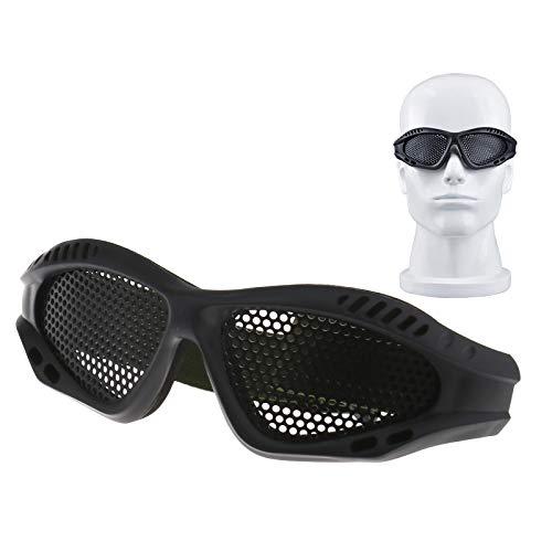 Create Idea Taktisch Militär Tarnen Schutz Metall Mesh Brille Schutz Brillen Schwarz