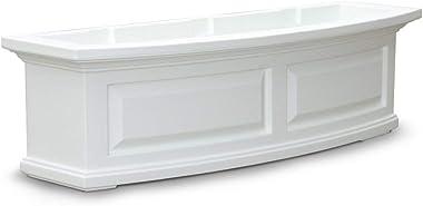 Mayne 4830W Nantucket Window Box, White, 3-Feet