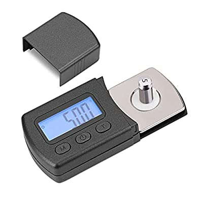 Gobesty Stylus Gauge, Digital Turntable Stylus Force Scale Gauge Tester 0.01g with 5g Calibrating Weight, Blue LCD Backlight for Tonearm Phono Cartridge, Check Tonearm Tracking Pressure
