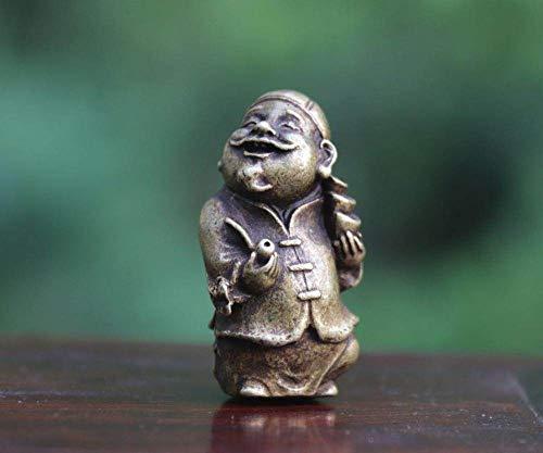 AXIANNV Statue Bronze Gott des Reichtums Vermieter Mann Männer Amulett Anhänger kleine Statue