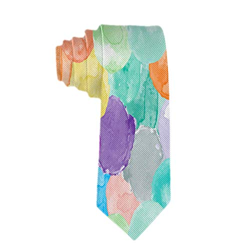 Web--ster Corbata clásica para hombre con diseño de acuarela en diferentes colores Corbatas