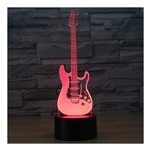 Night Light Guitarra eléctrica, panel acrílico, lámpara...
