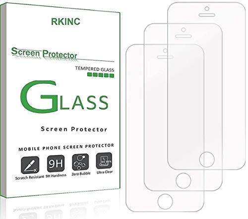 For iPhone 5 5S SE 5C Screen Protector, RKINC...