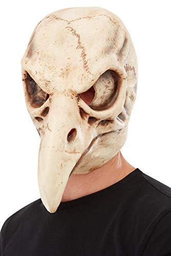 Smiffys 50819 Vogel Schedel Latex Masker, Unisex Volwassene, Wit