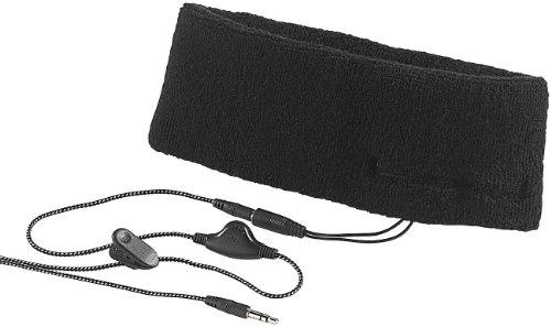 PEARL urban Stirnband Kopfhörer: 2in1-Stirnband mit Ohrhörern, 3,5-mm-Klinkenanschluss (Ohrenwärmer)