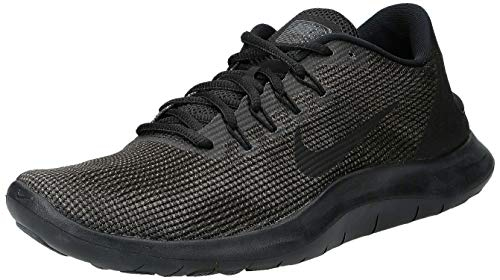 Nike Herren Flex 2018 RN Sneakers, Schwarz (Black/Black/Dark Grey/Anthracite 001), 42.5 EU