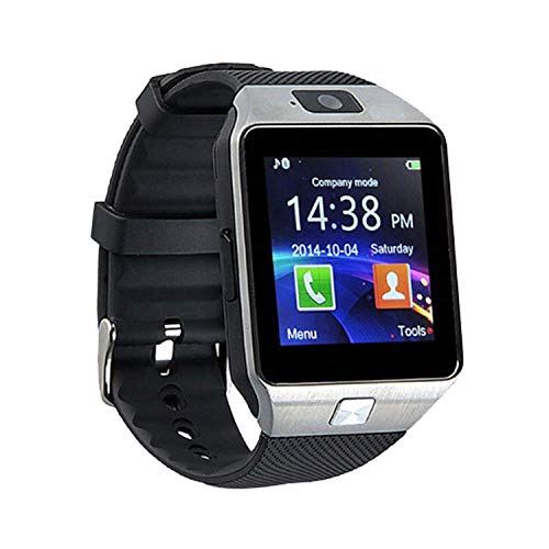 ZXEGA DZ09 Bluetooth Smart Watch with Touchscreen Multifunctional TF Sim Card Support Mens Boys Kids Girls (Black)
