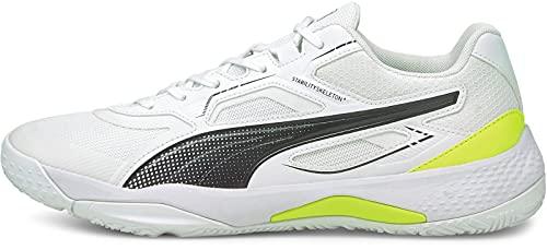 Puma Solarstrike, Zapatillas de Balonmano Unisex Adulto, White Black, 38 EU