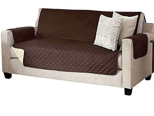 Viva Sesselschoner Sofaschoner Sesselschutz Sofaüberwurf (3-Sitzer 191 x 279 cm, braun/beige)