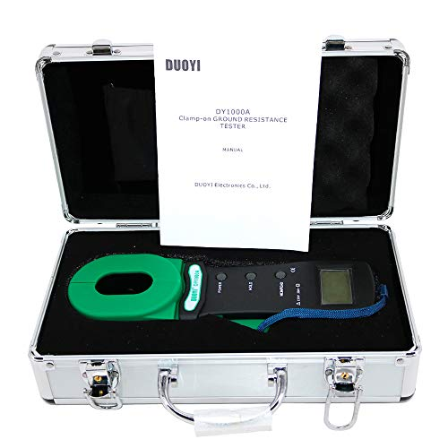 Graigar DY1000A Digital Clamp-on Grounding Earth Resistance Tester Meter