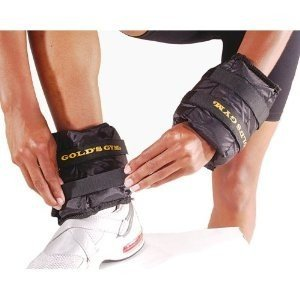 Gold's Gym Adjustable Pair Wrist/Ankle Weights - 2 x 2.5 Pounds Ankle Weights