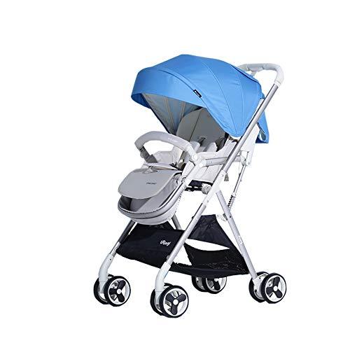 Baby trolley Passeggino Passeggino, Passeggino, Sedile reclinabile, Cintura di Sicurezza a Cinque Punti, tettuccio, ombrellone a Piedi per vano portaoggetti - Peso Netto 12,3 sterline