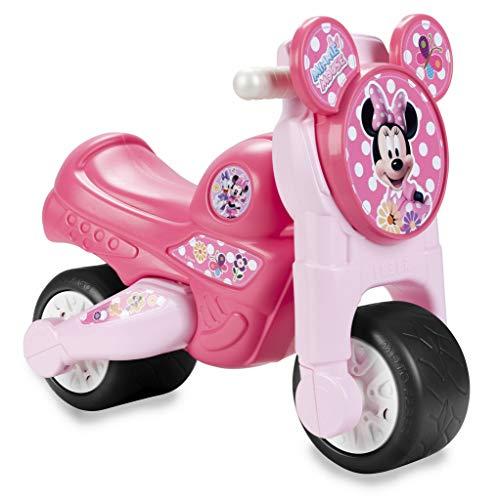 FEBER MotoFEBER Minnie Disney - Trotteur à roues larges avec klaxon, pour filles de 18 mois à 3 ans, Rose (Famosa 800009451)