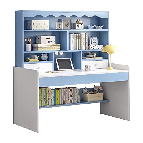 escritorio de dormitorio con cajones Escritorio infantil con estantería escritorio de la computadora económica Inicio Escritorio Dormitorio práctico para estudiantes de primaria Escritorio de dormitor
